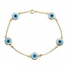 Pulseira Olhos Gregos Ouro